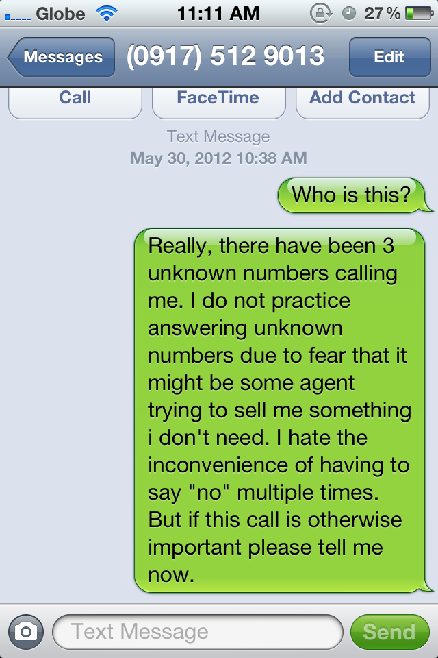 Would You Answer Calls from Unknown Callers? | The Oaf